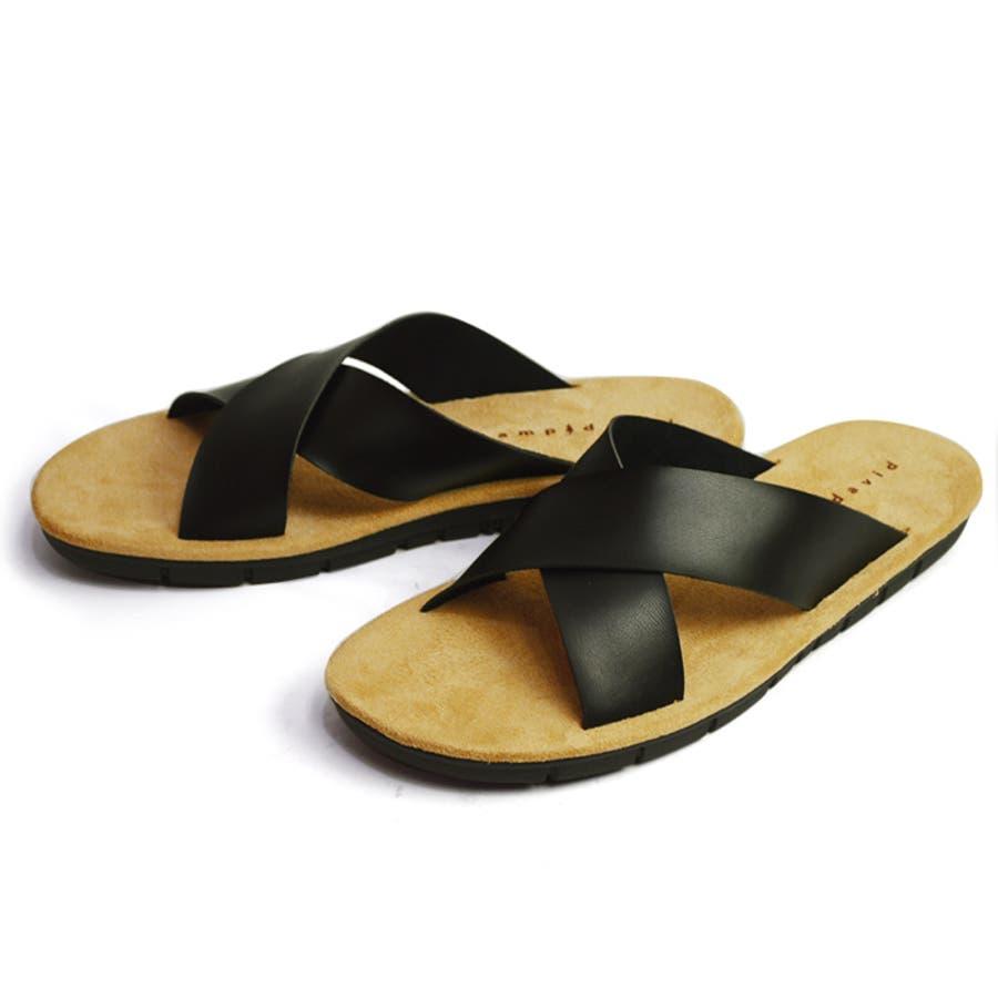 メンズサンダルメンズトングサンダルコンフォートサンダルメンズサンダル軽量男人気靴シャワーサンダルトリコ