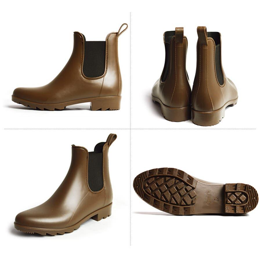 レインブーツ サイドゴアブーツ レディース 防水 防滑 レインシューズ ブーティ 長靴 靴 雨靴 梅雨 ショートブーツサイドゴアアンクル丈 婦人靴 シューズ スノーブーツ ウインターブーツ 5