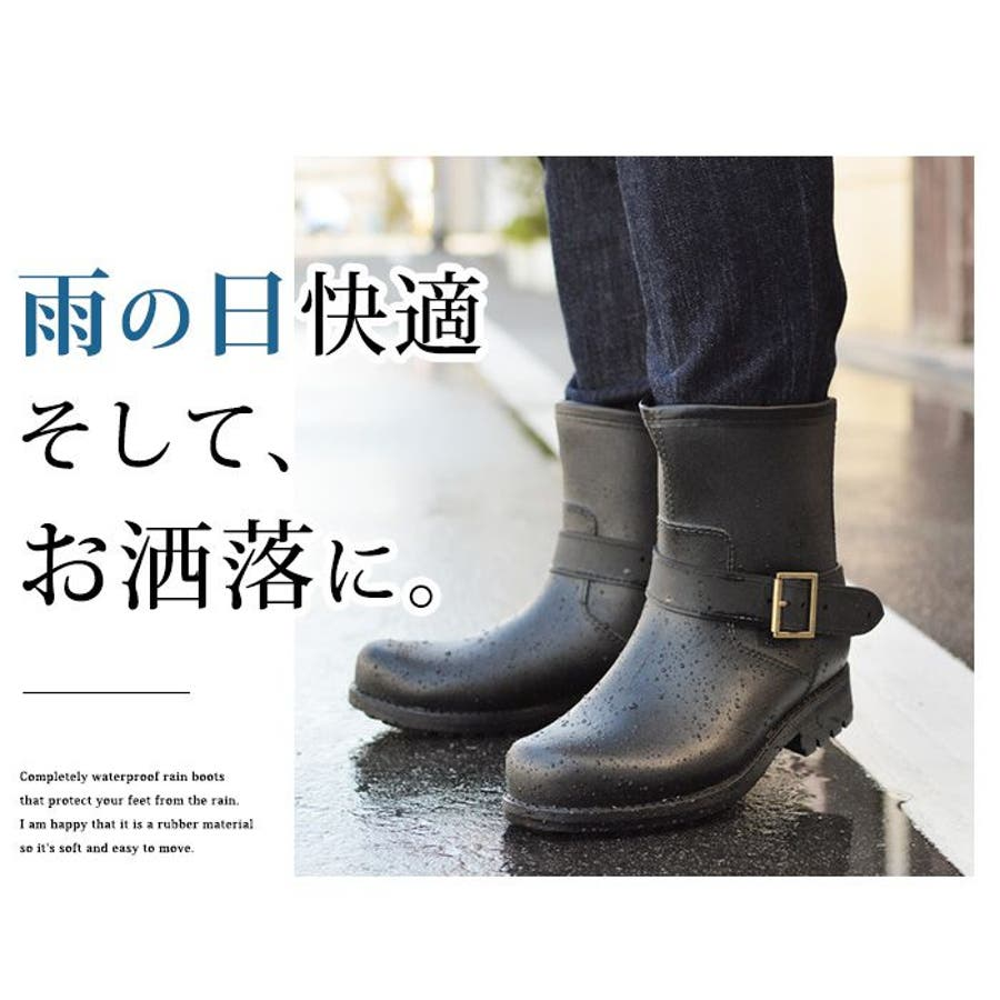 レインブーツ メンズ 防水 ショートブーツ 長靴 メンズブーツ スノーシューズ スノーブーツ ワークブーツ コンフォート 靴メンズシューズ 7