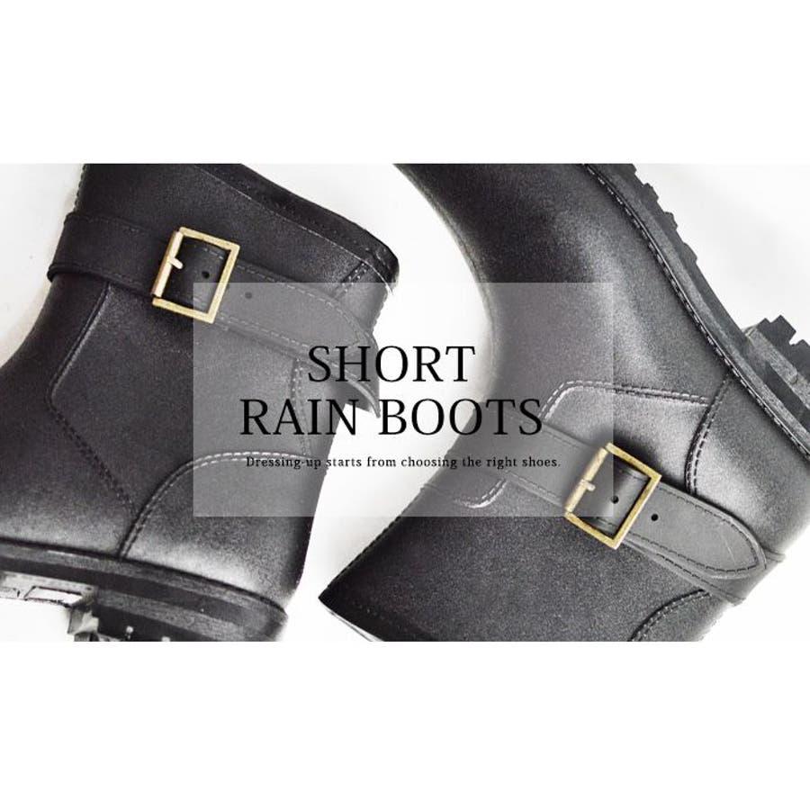 レインブーツ メンズ 防水 ショートブーツ 長靴 メンズブーツ スノーシューズ スノーブーツ ワークブーツ コンフォート 靴メンズシューズ 8