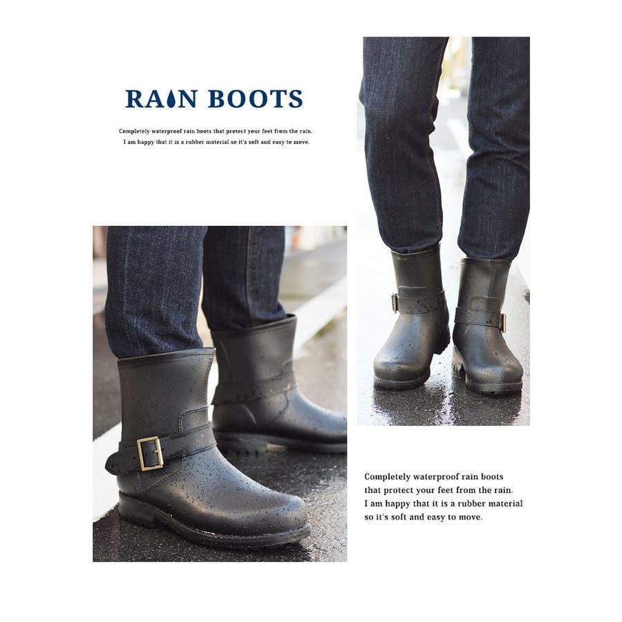 レインブーツ メンズ 防水 ショートブーツ 長靴 メンズブーツ スノーシューズ スノーブーツ ワークブーツ コンフォート 靴メンズシューズ 9