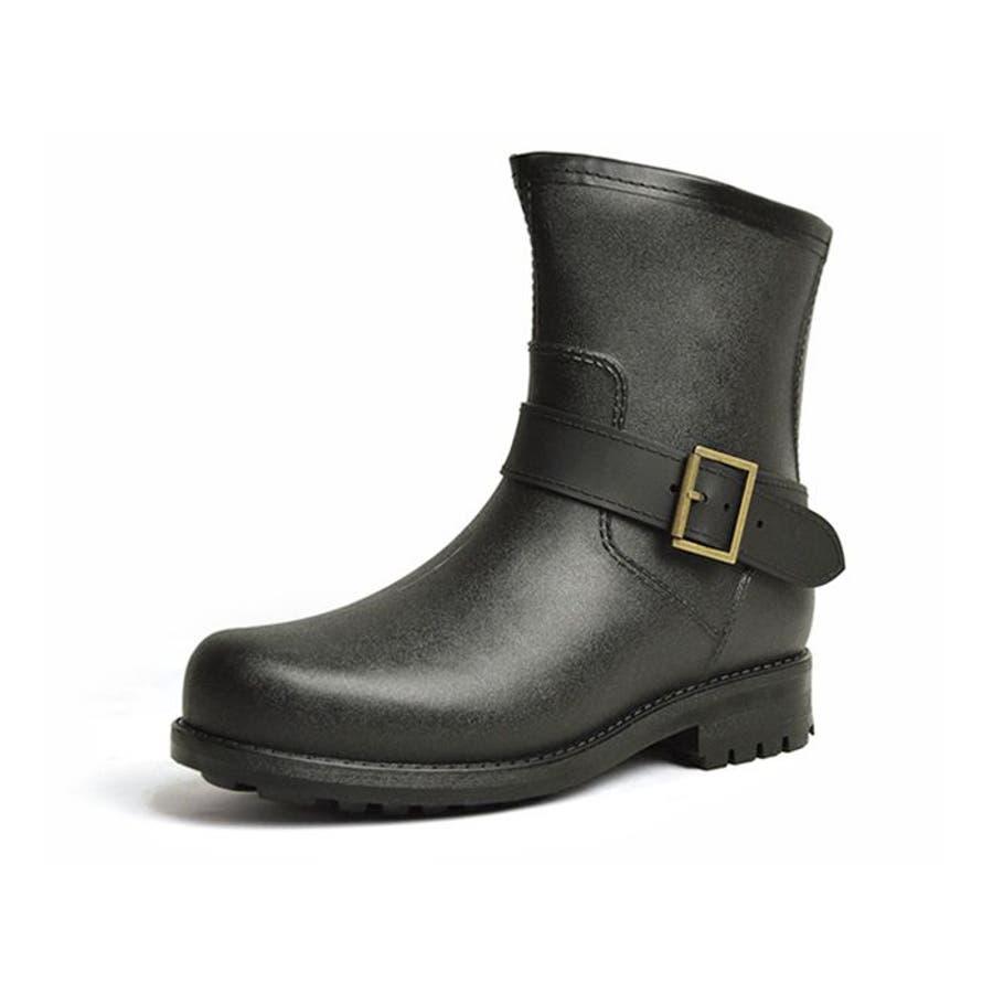 レインブーツ メンズ 防水 ショートブーツ 長靴 メンズブーツ スノーシューズ スノーブーツ ワークブーツ コンフォート 靴メンズシューズ 3