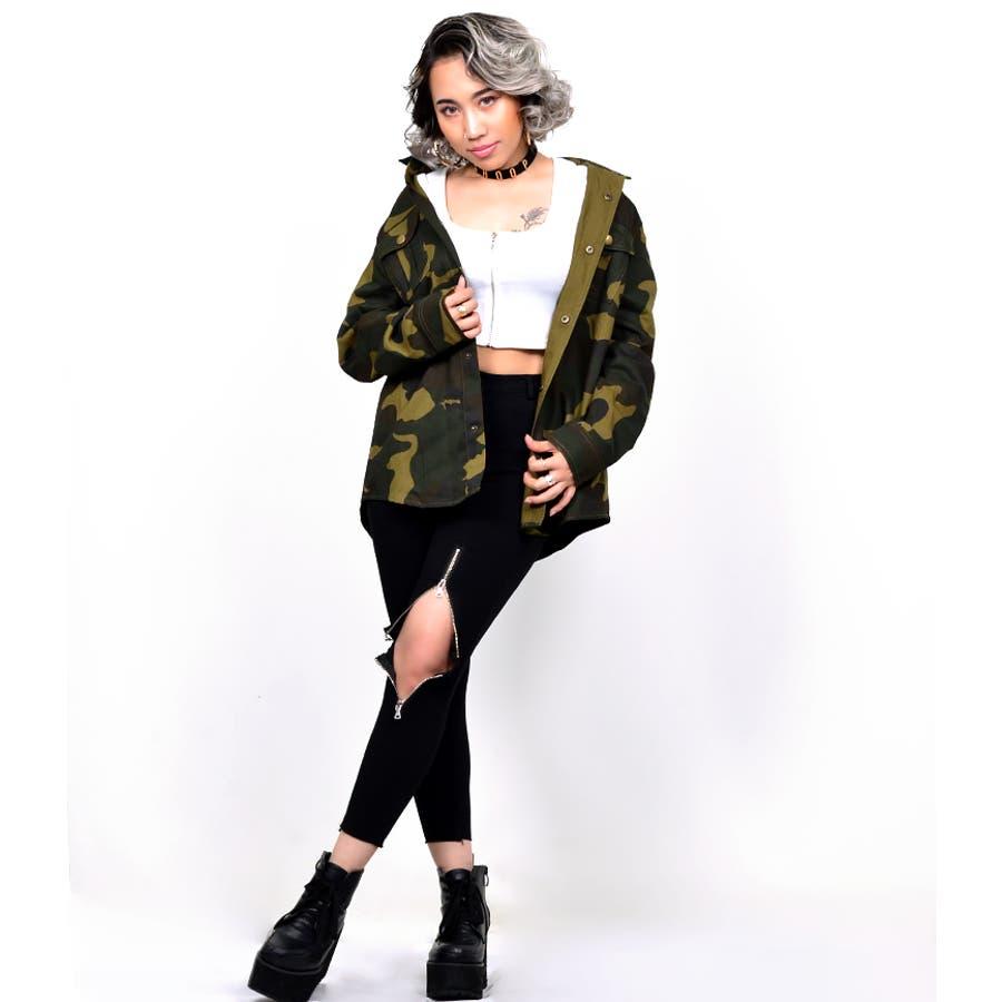 B系 レディース ファッション ストリート ダンス BABYSHOOPロゴ入りミリタリージャケット1051 4