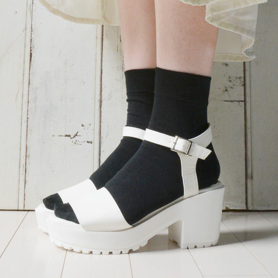 色違いを買いました 春夏 サンダル スポサン ストラップ 厚底 ベルト スポーティー カジュアル ソックス 靴下 痛くない 歩きやすい レディース靴 軍用