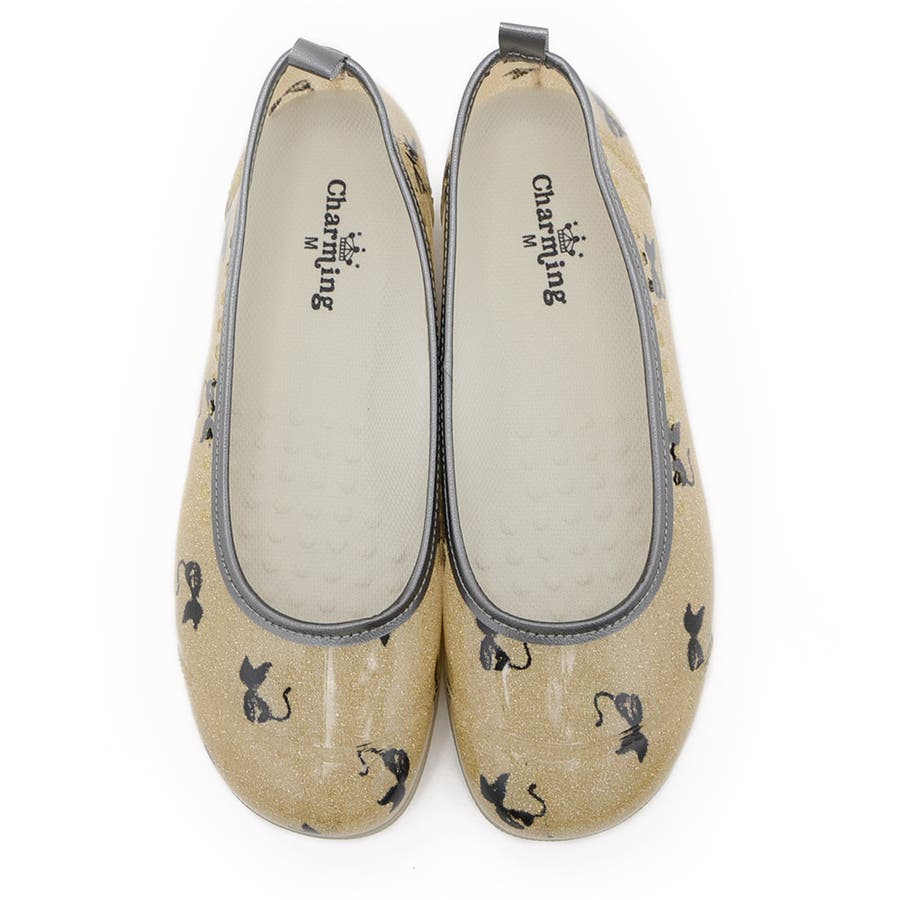 レインシューズ バレエシューズ レディース レインパンプス 防水 ローヒール 痛くない ぺたんこ 日本製 撥水 疲れにくい歩きやすい黒ブラック 通学 滑り止め 雨靴 雨 梅雨 レディース靴 107