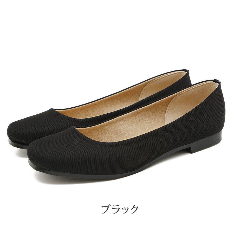 レインシューズ レディース レインパンプス スクエアトゥ 日本製 ローヒール 痛くない 大きいサイズ ぺたんこ 撥水疲れにくい歩きやすい 甲高 甲広 雨靴 梅雨 雨 レディース靴 21