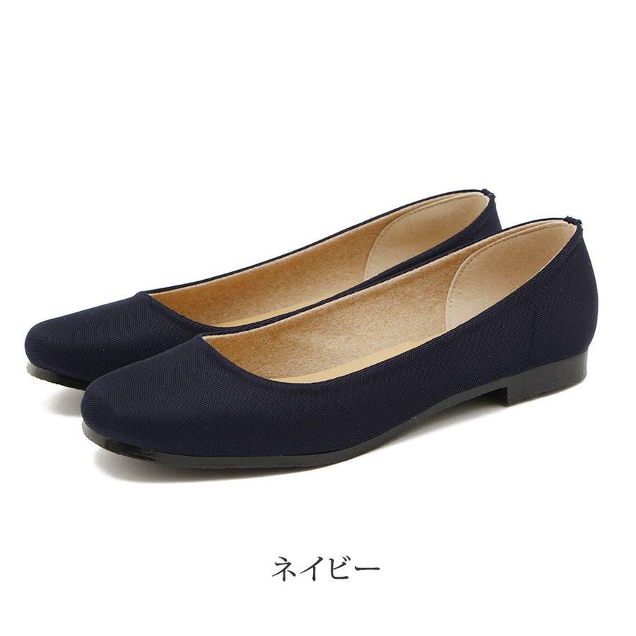レインシューズ レディース レインパンプス スクエアトゥ 日本製 ローヒール 痛くない 大きいサイズ ぺたんこ 撥水疲れにくい歩きやすい 甲高 甲広 雨靴 梅雨 雨 レディース靴 64