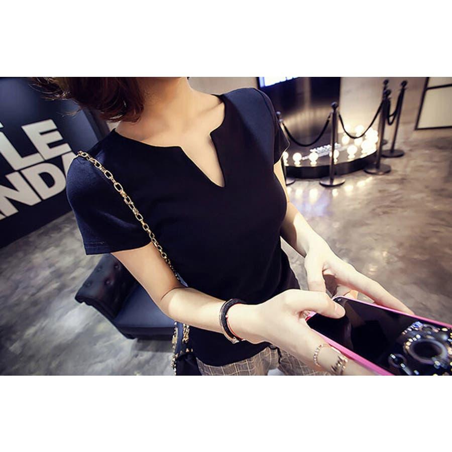 レディース 服 ファッション 女性 サイズ カラー ブラック ホワイト M,L VT01 3
