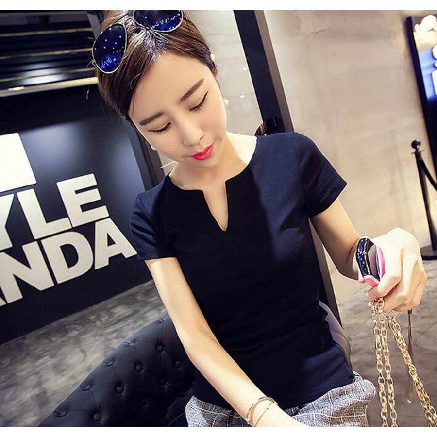 レディース 服 ファッション 女性 サイズ カラー ブラック ホワイト M,L VT01 4