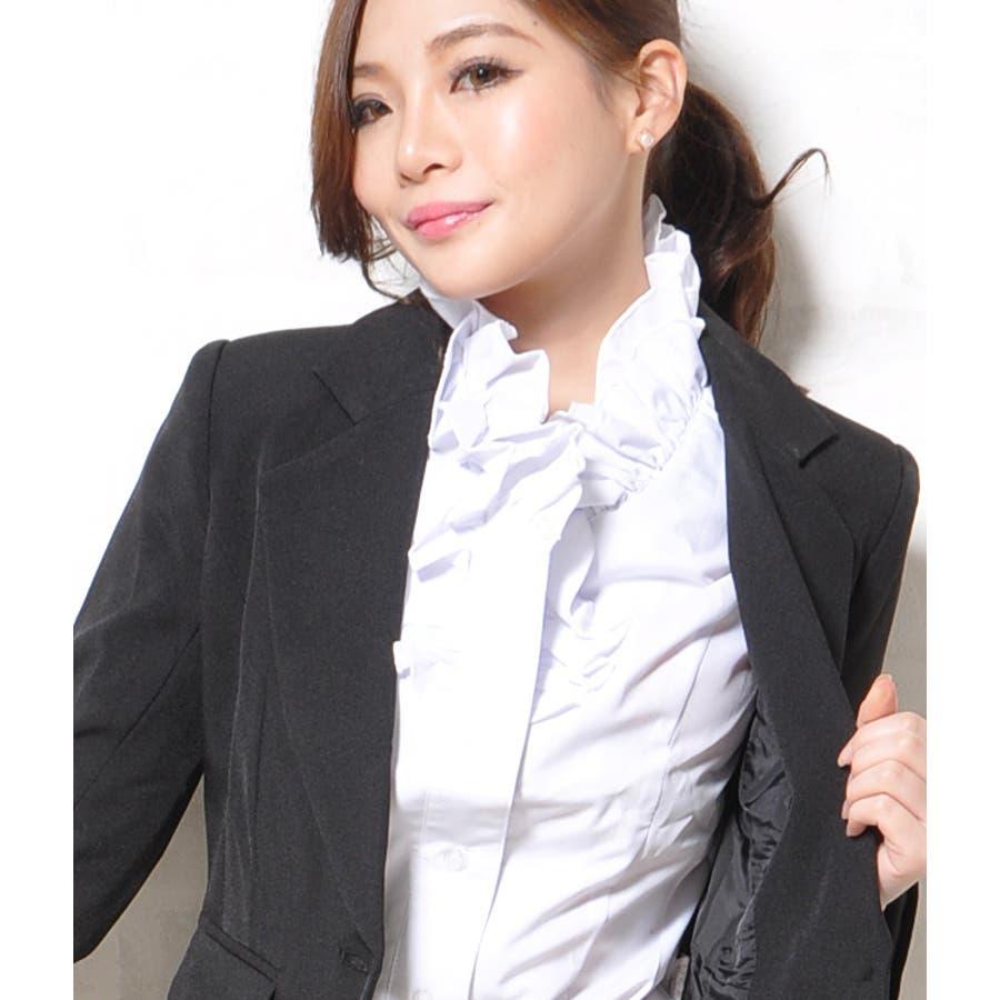 xxswing sumiko kiyooka リクルートスーツパンチラ レディースファッション通販新作 ma フリル カッターシャツ シャツ フリルブラウス ブラウス 長袖