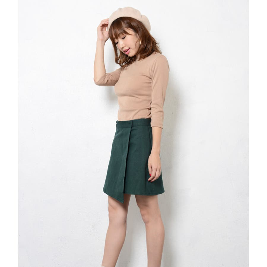 夏新作 台形 ラップスカート ma ボトムス スカートラップ 巻きスカート 台形 シンプル レトロ ミニスカート 4