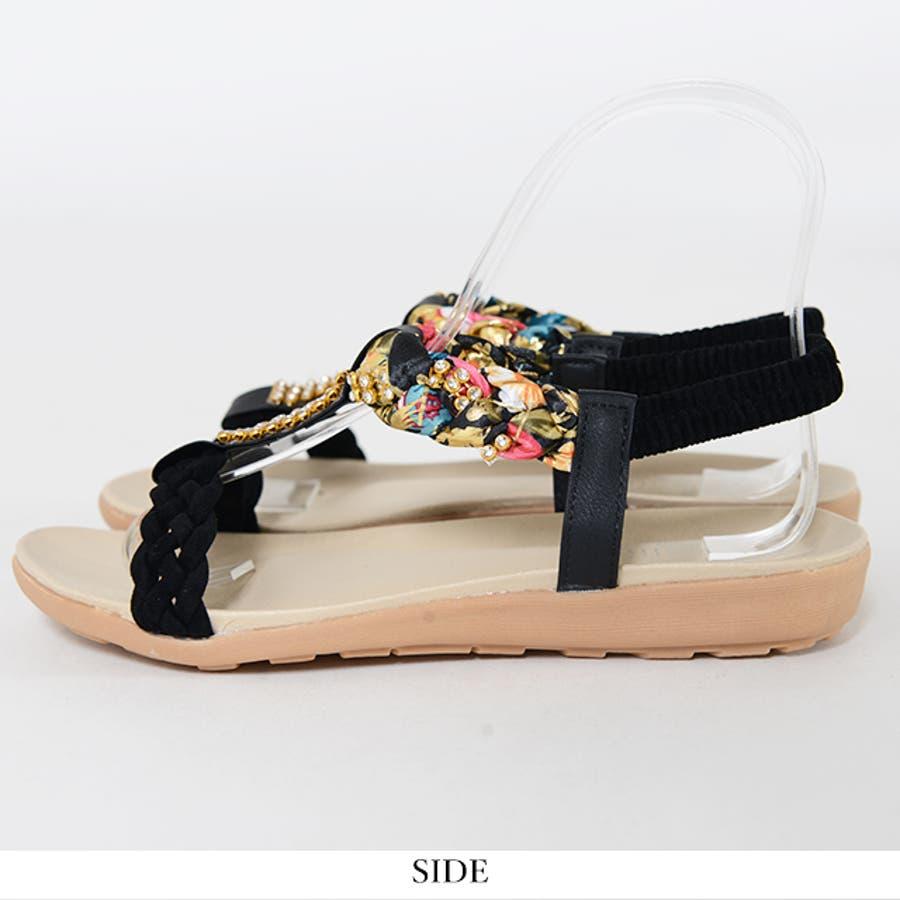 冬新作 ビジューサンダル 靴 8