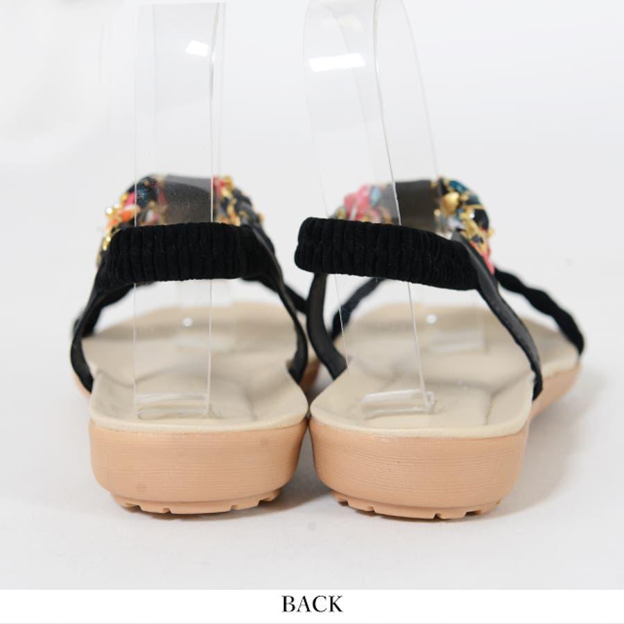 冬新作 ビジューサンダル 靴 9