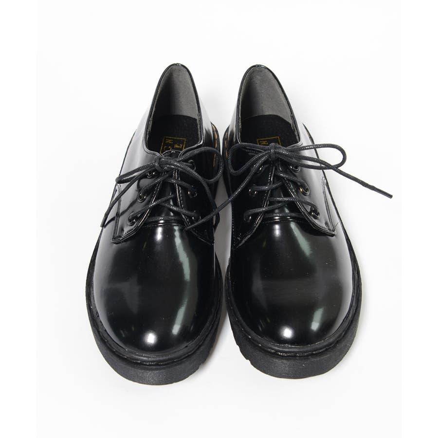 秋新作 レースアップブーツ 靴 ブーツ ブラック ローヒール フラット 雪 マーチン風 レディース ドレス 3