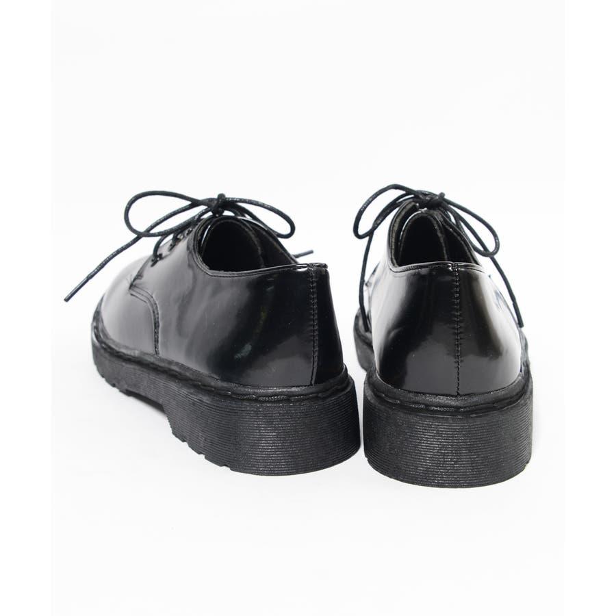 秋新作 レースアップブーツ 靴 ブーツ ブラック ローヒール フラット 雪 マーチン風 レディース ドレス 5