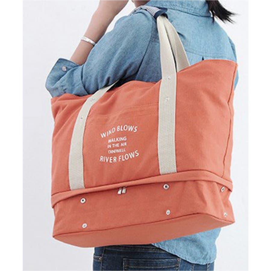 秋新作 ロゴ入りトラベルバッグ 小物 トラベルバッグ 旅行 薄手 シンプル ベーシック ゴールデンウィーク レディース 99