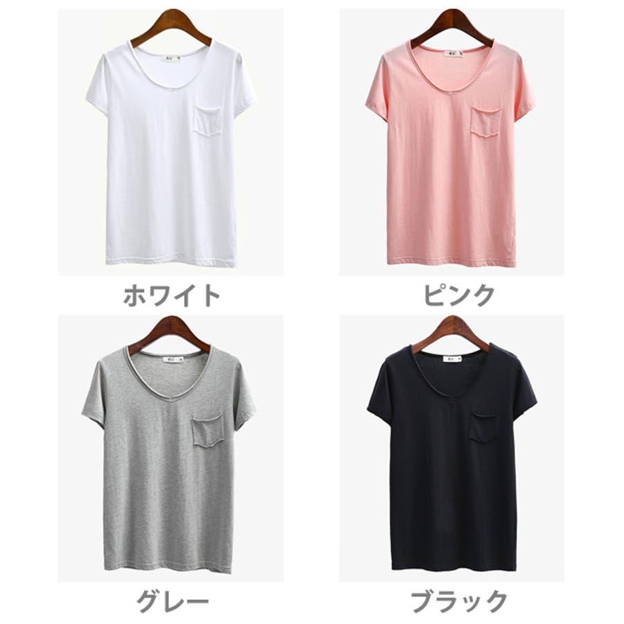 春新作 ポケット付きVネックTシャツ ma 2