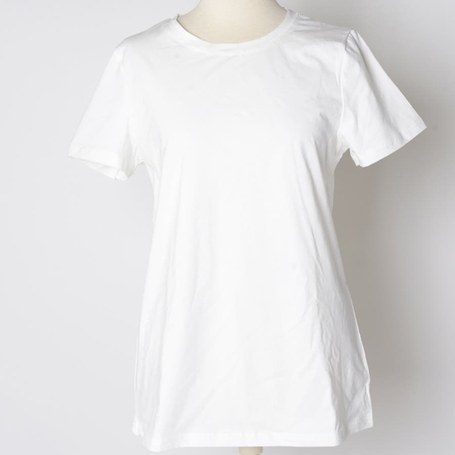 春新作 ベーシック白Tシャツ ma 7