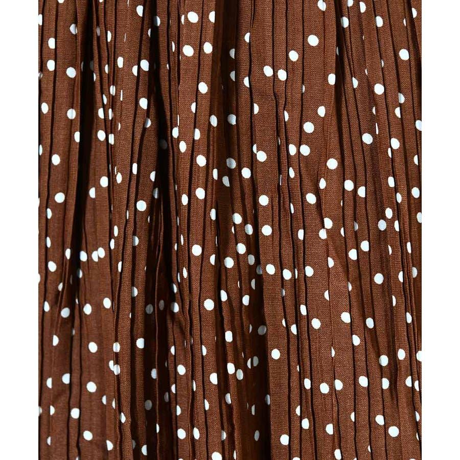 秋新作 プリーツドットスカート ma ボトムス スカート レディース プリーツスカート ドット プリーツドット 秋カラー 水玉 6