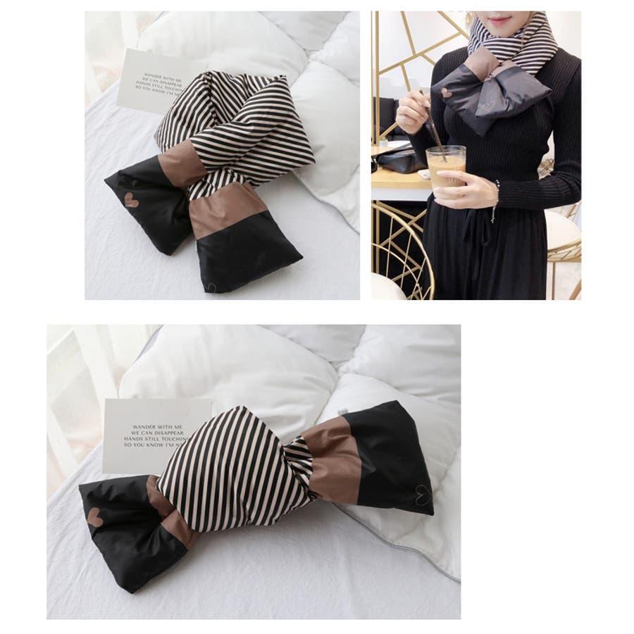 秋新作 ダウンマフラー マフラー ダウン ティペット 小物 ネックウォーマー レディース 韓国ファッション 7