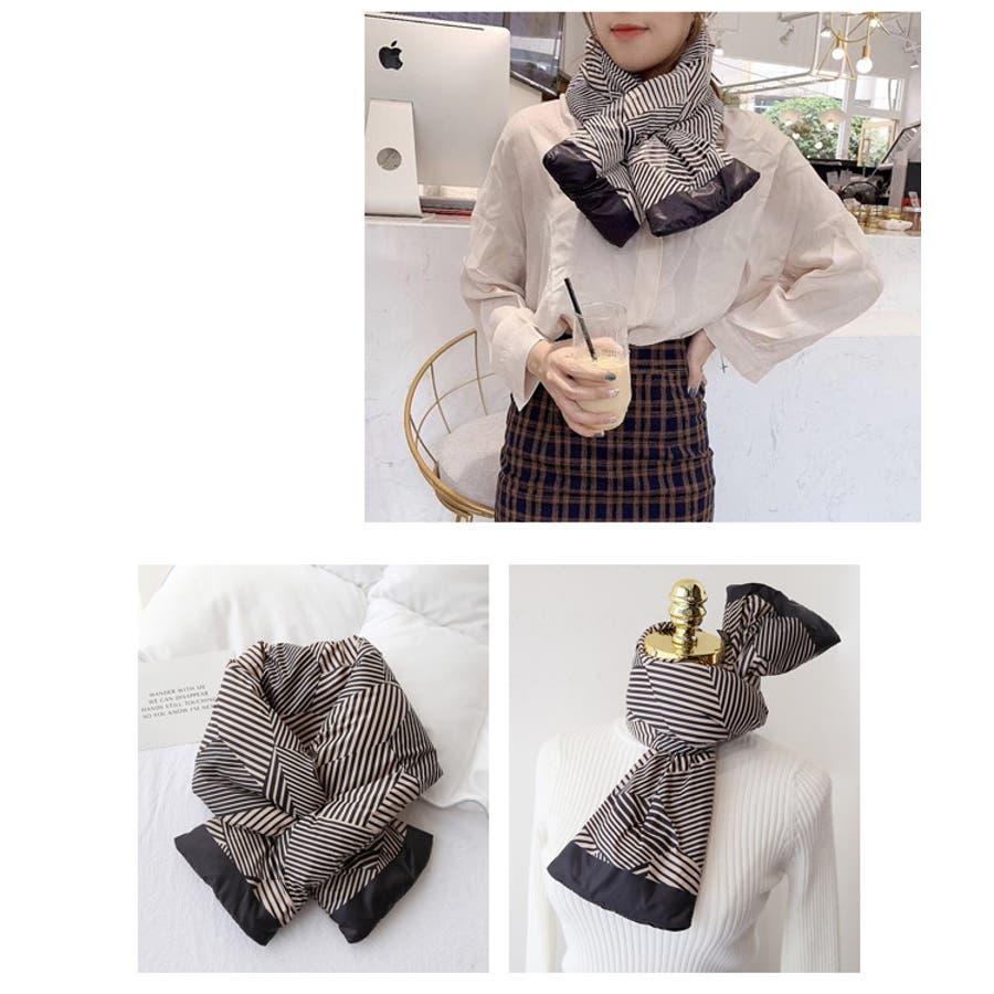 秋新作 ダウンマフラー マフラー ダウン ティペット 小物 ネックウォーマー レディース 韓国ファッション 8