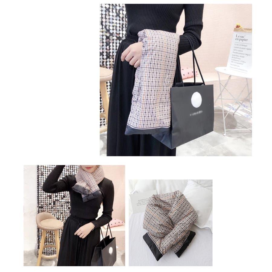 秋新作 ダウンマフラー マフラー ダウン ティペット 小物 ネックウォーマー レディース 韓国ファッション 10