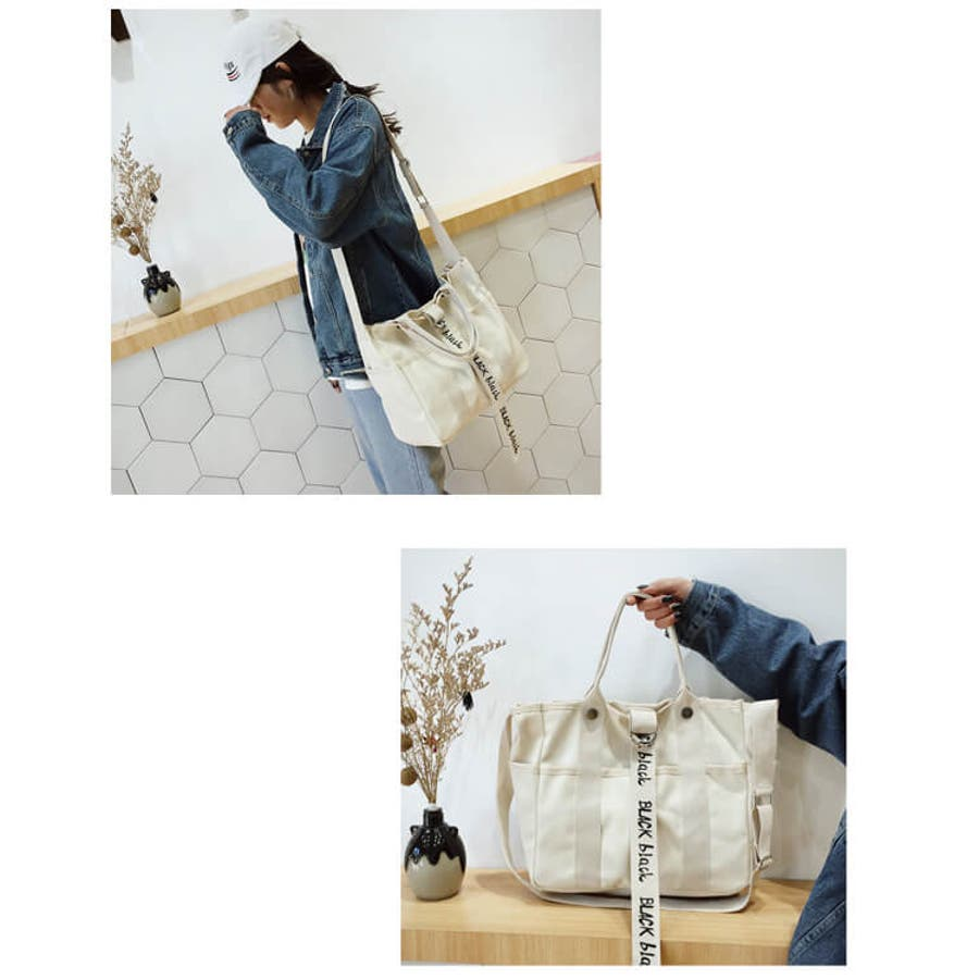 秋新作 ロゴベルト付キャンバストート ma バッグ 女性 ハンドバッグ トートバッグ ショルダーバッグ キャンバス生地 ロゴトート 8