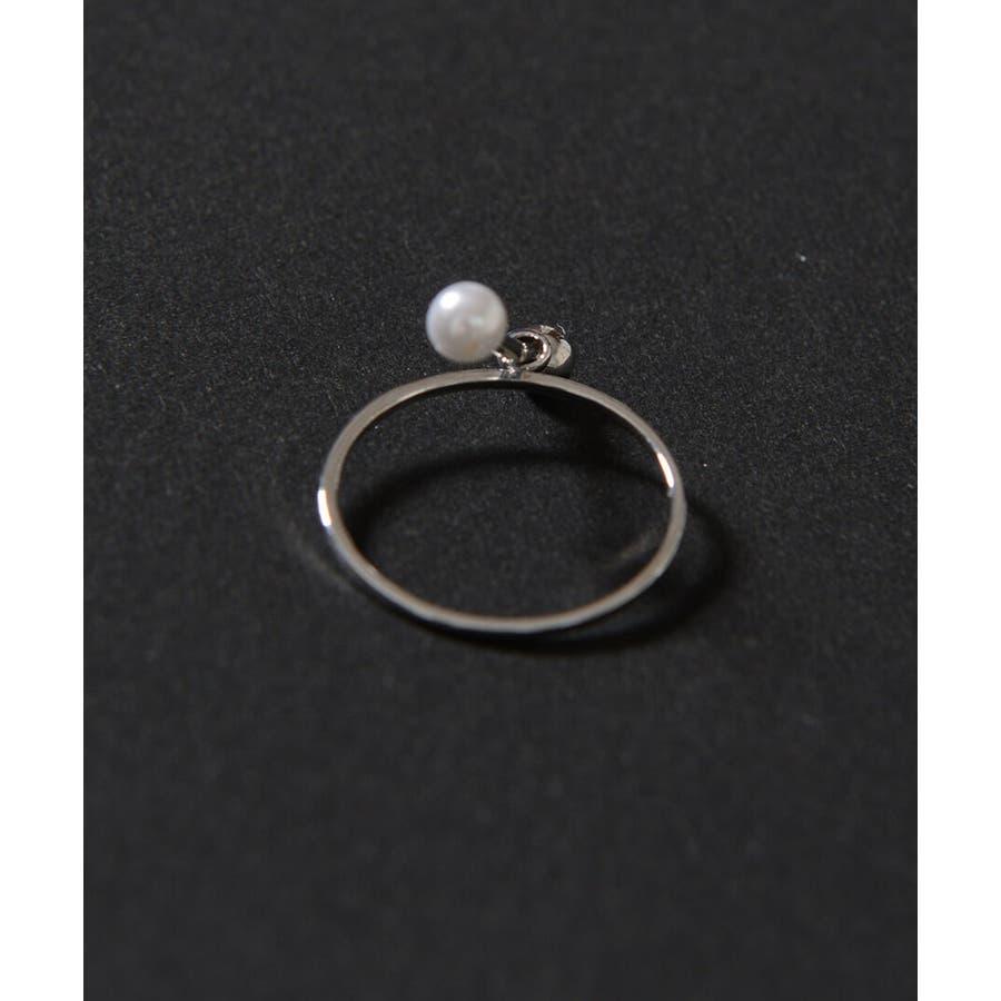 秋新作 シンプルパールリング ma アクセサリー リング レディース 指輪 ビジュー パール 4