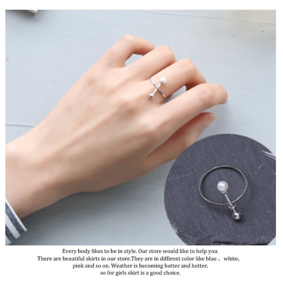 秋新作 シンプルパールリング ma アクセサリー リング レディース 指輪 ビジュー パール 5