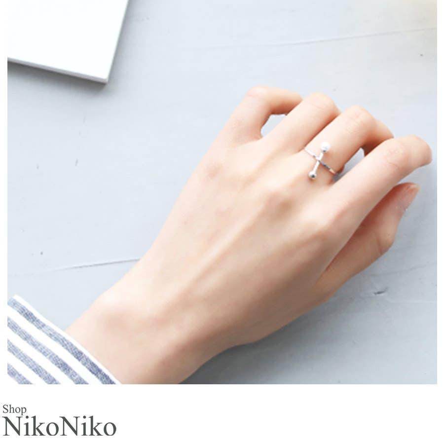 秋新作 シンプルパールリング ma アクセサリー リング レディース 指輪 ビジュー パール 1