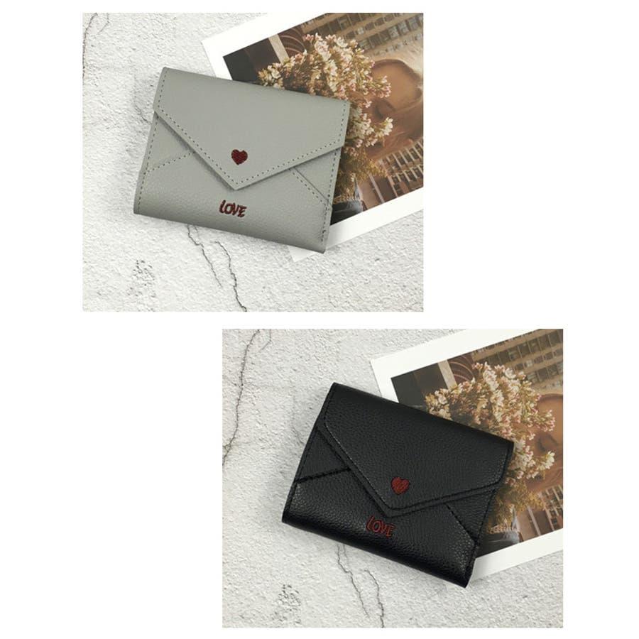 秋新作 レター型ミニウォレット ma 小物 財布 レディース 二つ折り財布 折り財布 ミニ財布 レター型 4