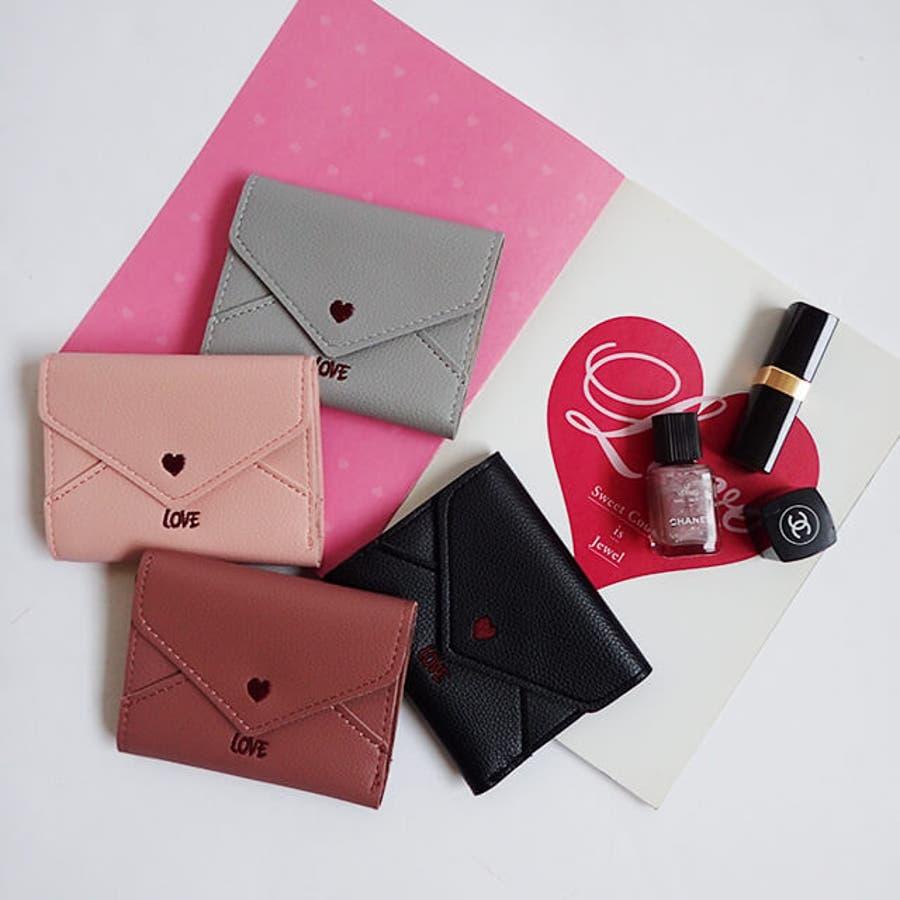 秋新作 レター型ミニウォレット ma 小物 財布 レディース 二つ折り財布 折り財布 ミニ財布 レター型 6
