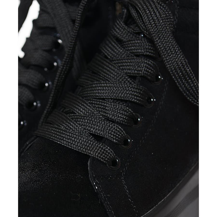 冬新作 刺繍ロゴハイカットスニーカー シューズ 靴 レディース スニーカー 刺繍 7