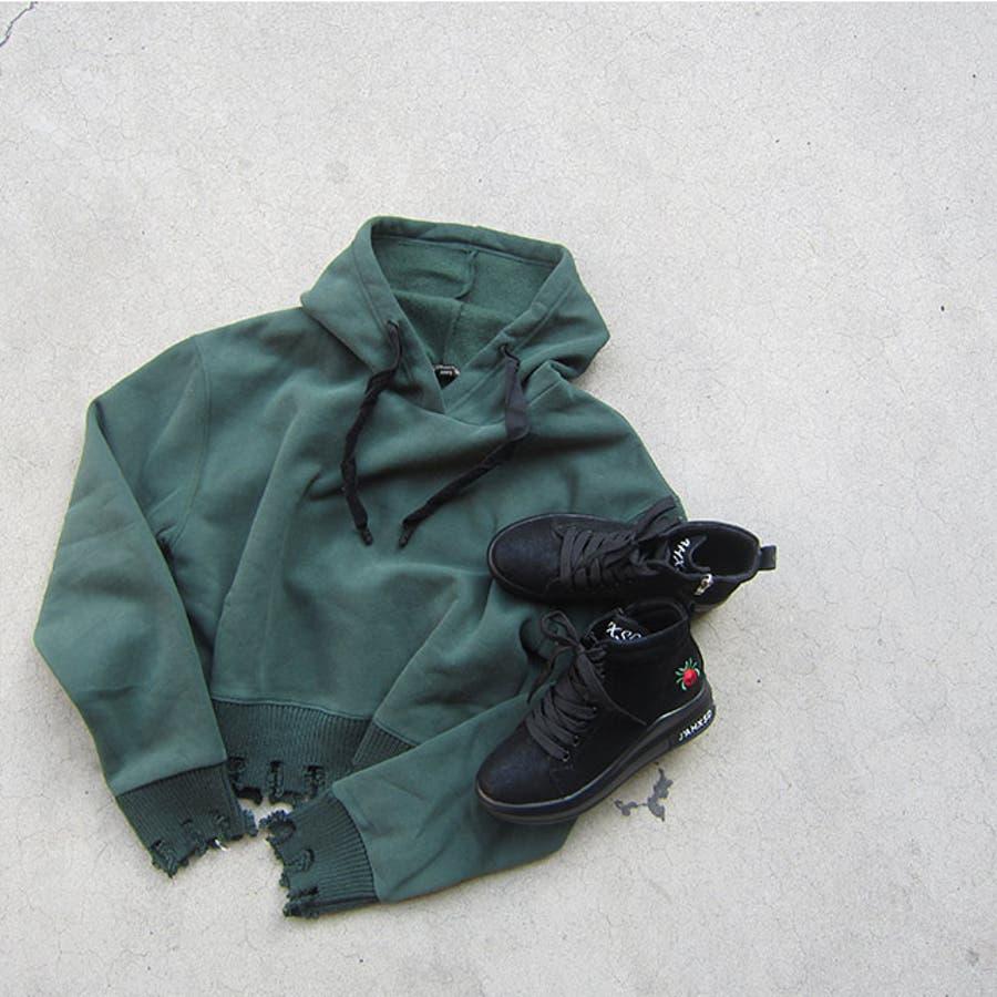 冬新作 刺繍ロゴハイカットスニーカー シューズ 靴 レディース スニーカー 刺繍 10