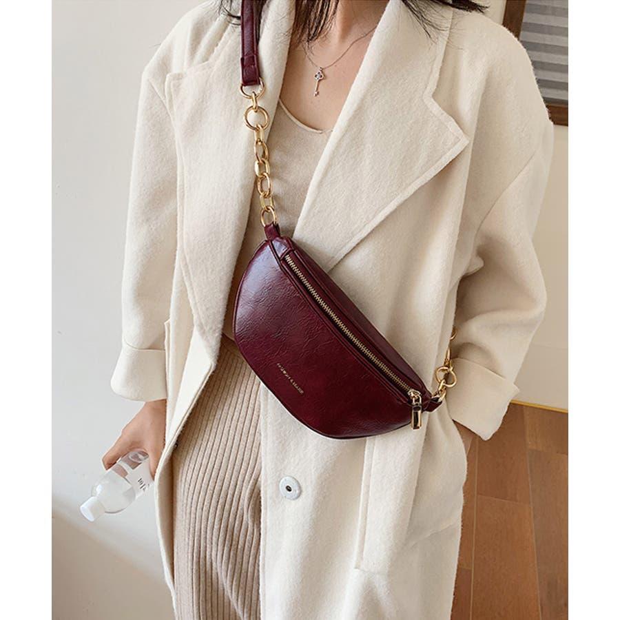 冬新作 レザー調ウエストポーチ 鞄 バッグ ウエストポーチ フェイクレザー チェーン レディース 韓国ファッション Instagram 96