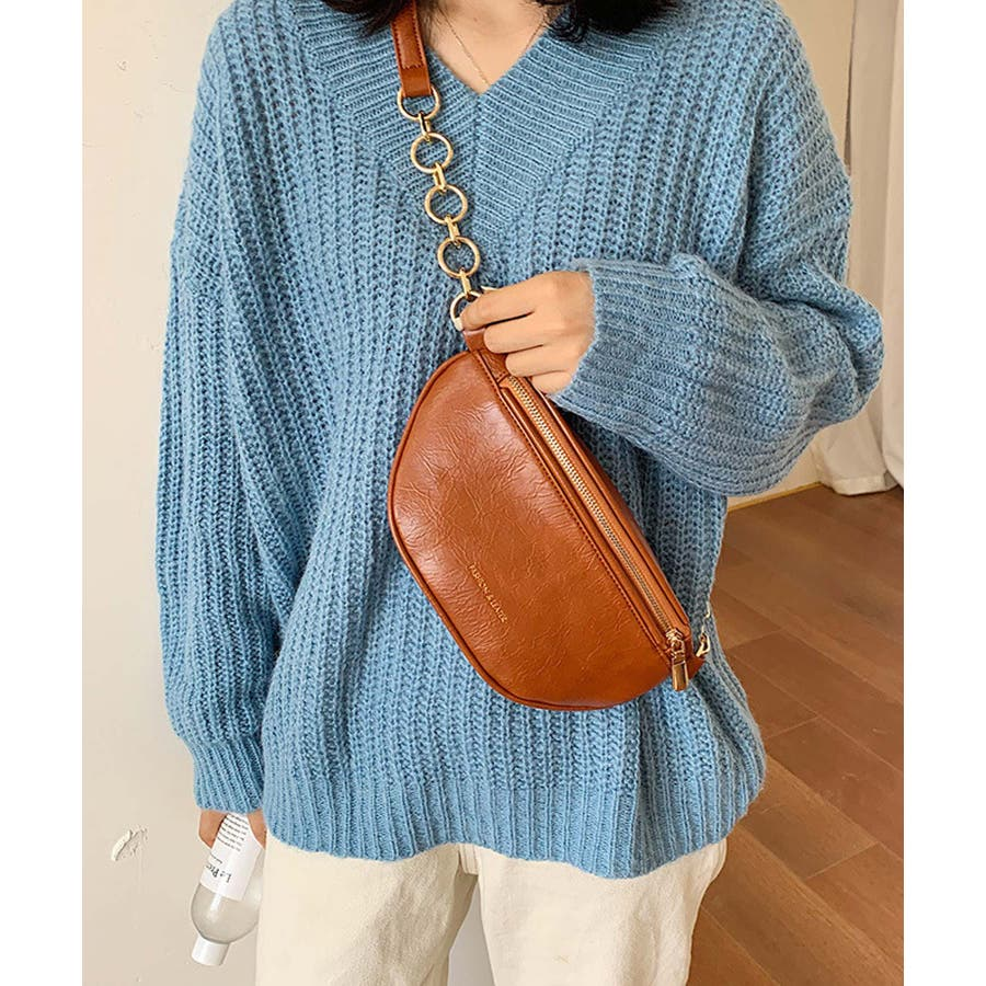 冬新作 レザー調ウエストポーチ 鞄 バッグ ウエストポーチ フェイクレザー チェーン レディース 韓国ファッション Instagram 33