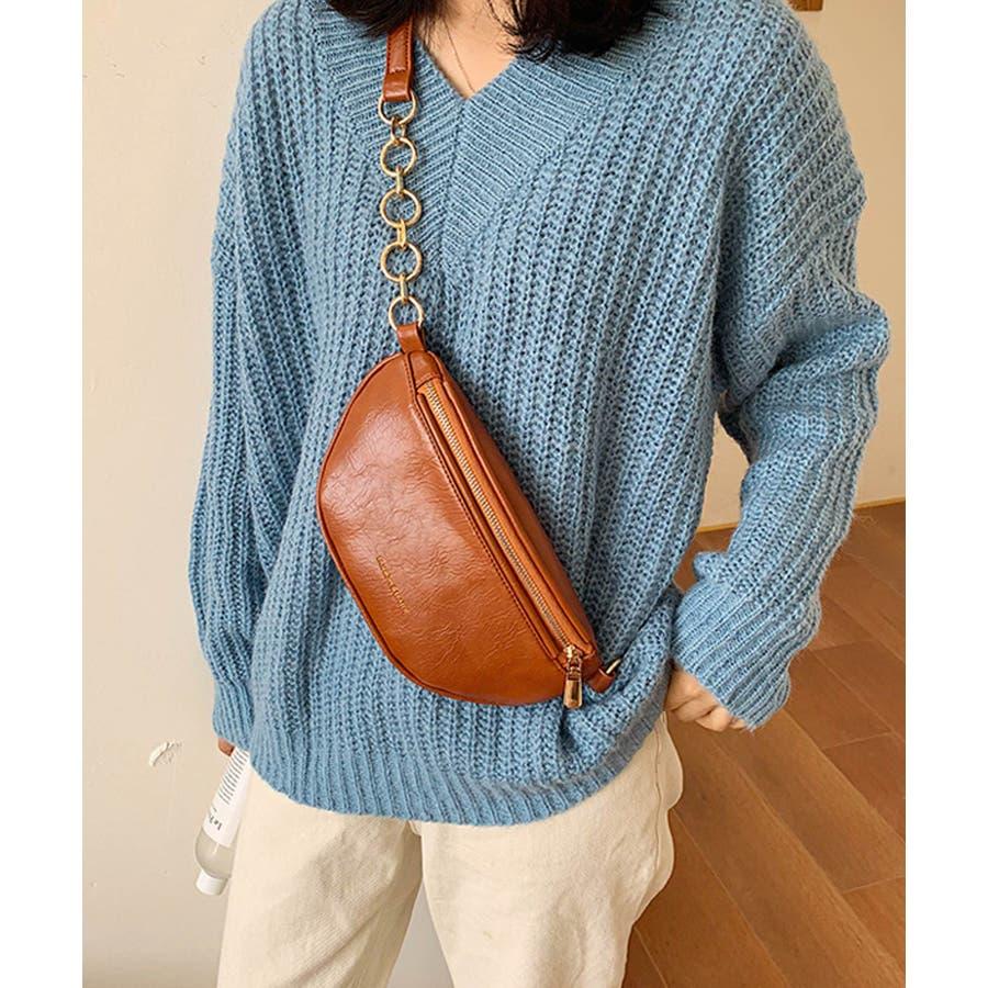 冬新作 レザー調ウエストポーチ 鞄 バッグ ウエストポーチ フェイクレザー チェーン レディース 韓国ファッション Instagram 9