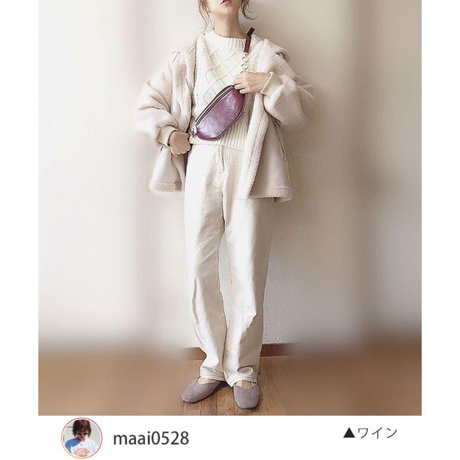 冬新作 レザー調ウエストポーチ 鞄 バッグ ウエストポーチ フェイクレザー チェーン レディース 韓国ファッション Instagram 2