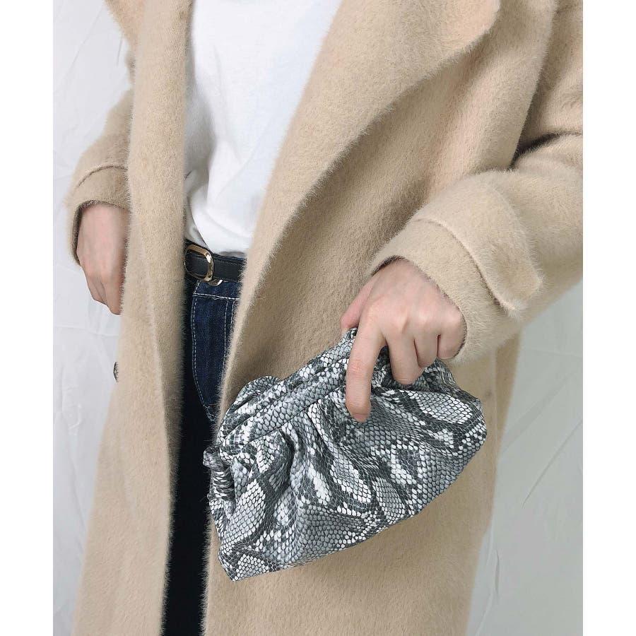 冬新作 パイソンがま口ショルダーバッグ バッグ 鞄 ショルダー ハンド パイソン がま口 クラッチ ミニバッグ コンパクトレディース韓国ファッション 5