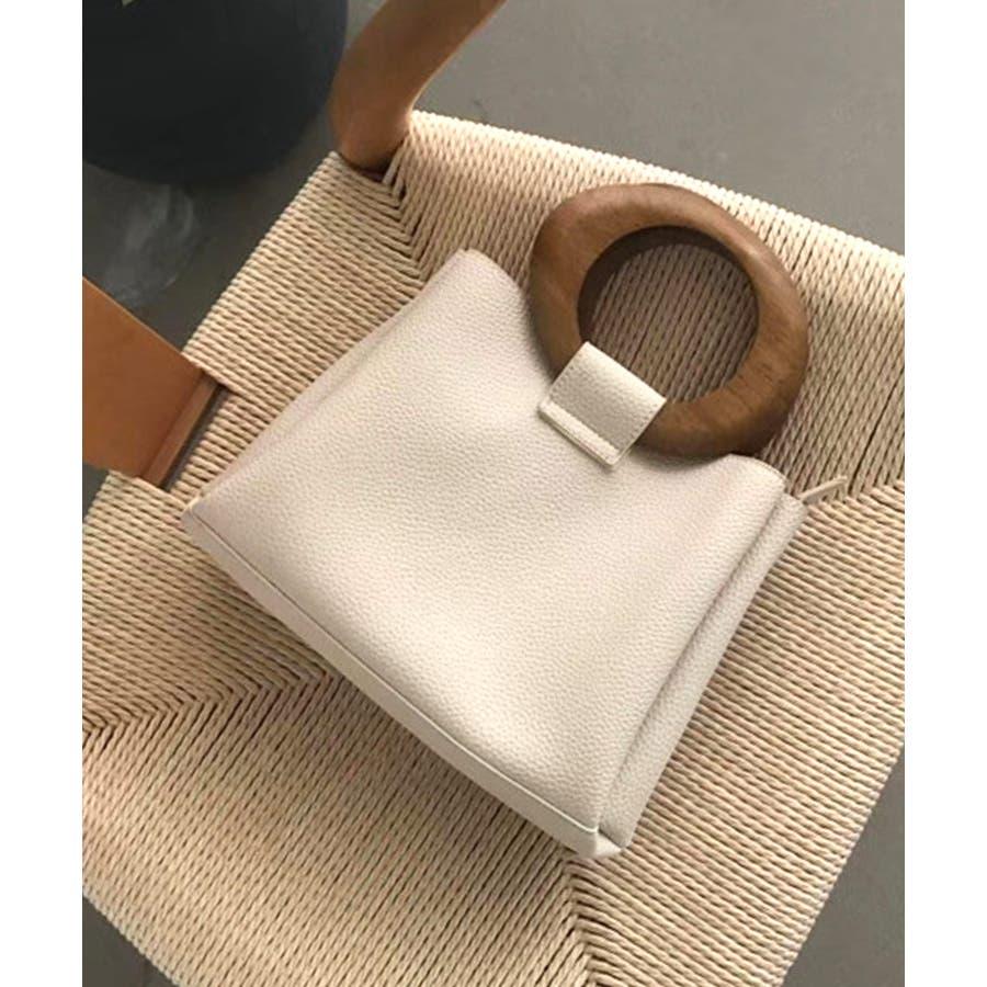 冬新作 ウッドハンドル2wayバッグ バッグ 鞄 ハンド ショルダー 2way ウッドハンドル スクエア PUシンプルレディース韓国ファッション Instagram 16