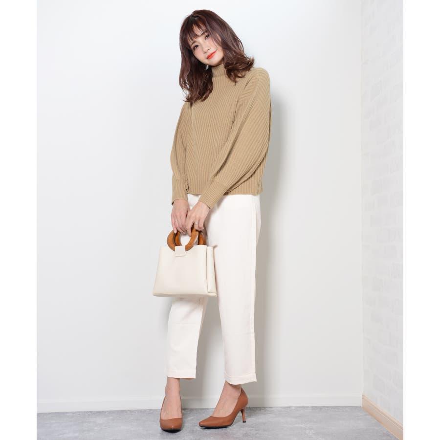 冬新作 ウッドハンドル2wayバッグ バッグ 鞄 ハンド ショルダー 2way ウッドハンドル スクエア PUシンプルレディース韓国ファッション Instagram 7