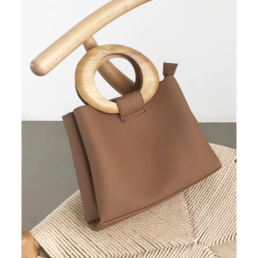 冬新作 ウッドハンドル2wayバッグ バッグ 鞄 ハンド ショルダー 2way ウッドハンドル スクエア PUシンプルレディース韓国ファッション Instagram 29