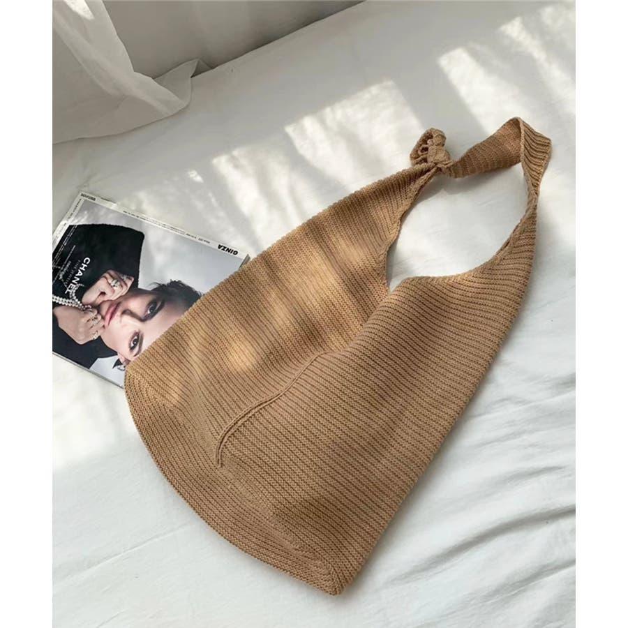 秋新作 ワンショルダーニットバッグ バッグ ショルダー ニット 鞄 シンプル カジュアル レディース 韓国ファッション 41