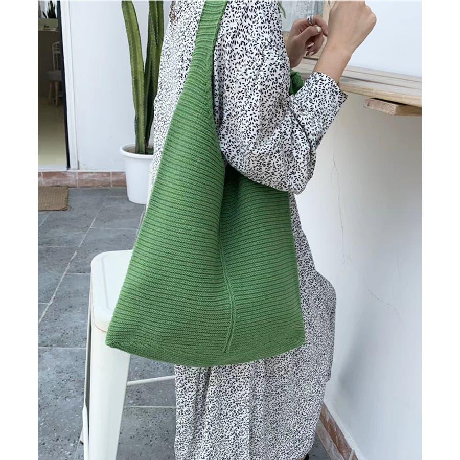 秋新作 ワンショルダーニットバッグ バッグ ショルダー ニット 鞄 シンプル カジュアル レディース 韓国ファッション 5