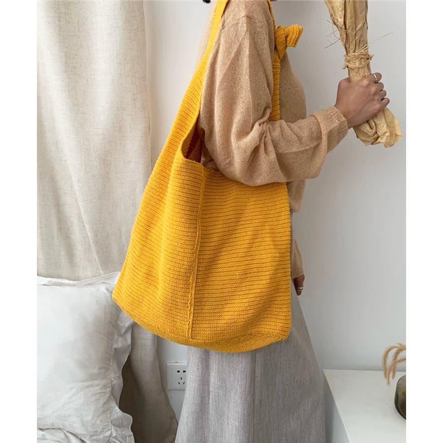 秋新作 ワンショルダーニットバッグ バッグ ショルダー ニット 鞄 シンプル カジュアル レディース 韓国ファッション 83