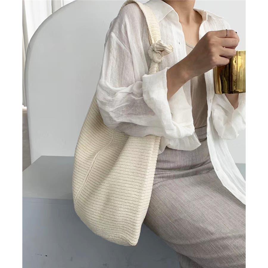 秋新作 ワンショルダーニットバッグ バッグ ショルダー ニット 鞄 シンプル カジュアル レディース 韓国ファッション 16