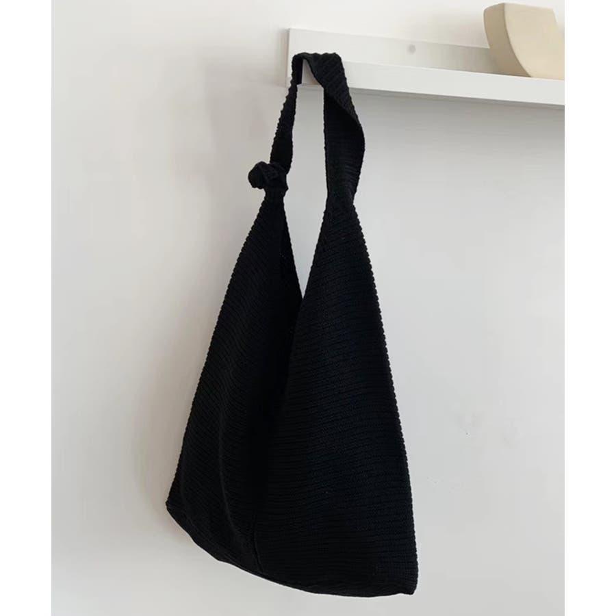 秋新作 ワンショルダーニットバッグ バッグ ショルダー ニット 鞄 シンプル カジュアル レディース 韓国ファッション 21