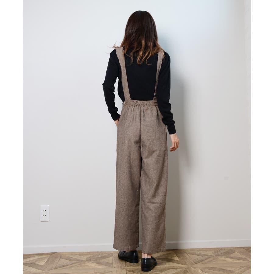 冬新作 アシンメトリーオールインワン オールインワン アシンメトリー パンツ ツイード 3way シンプル レイヤードレディース韓国ファッション 7