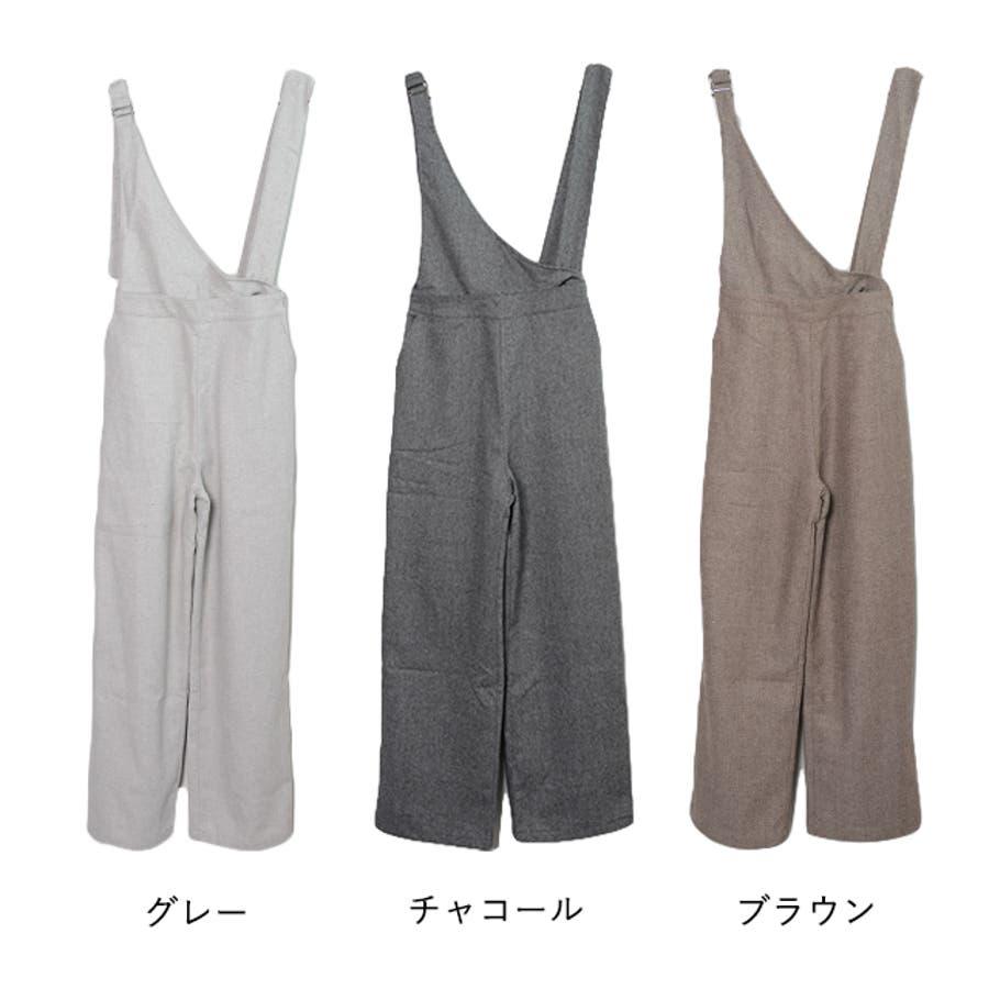 冬新作 アシンメトリーオールインワン オールインワン アシンメトリー パンツ ツイード 3way シンプル レイヤードレディース韓国ファッション 2