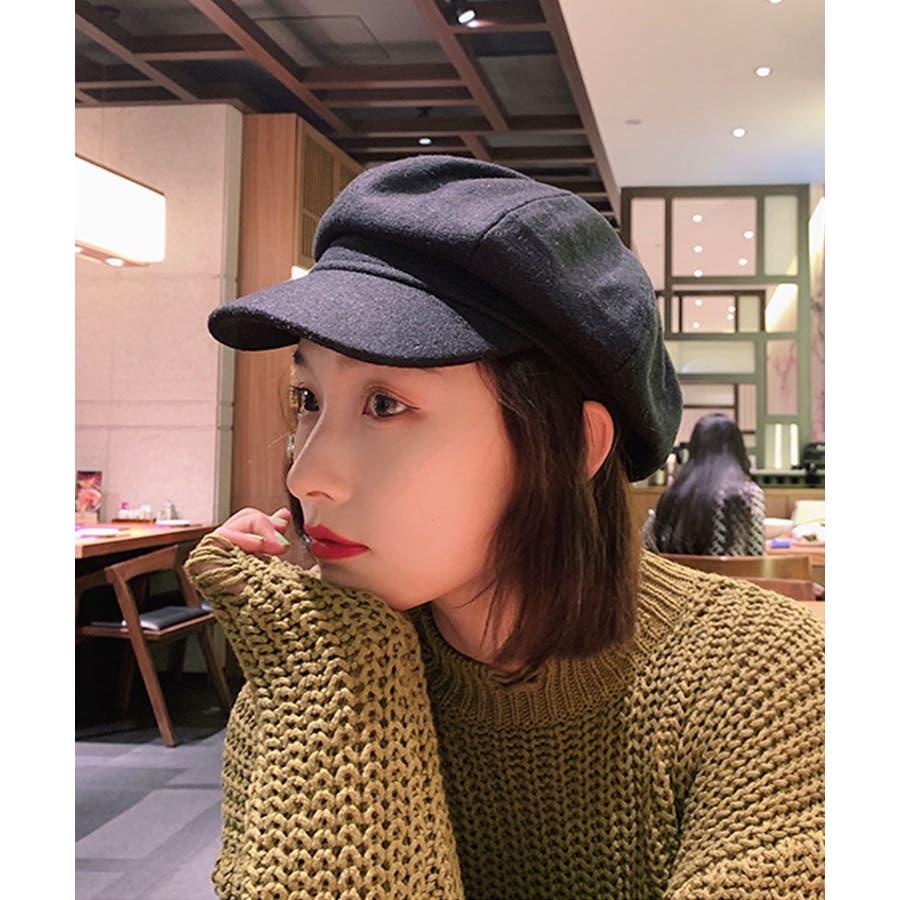 冬新作 キャスケット 帽子 ハット キャスケット カジュアル フェミニン シンプル 上品 レディース 韓国ファッション 5